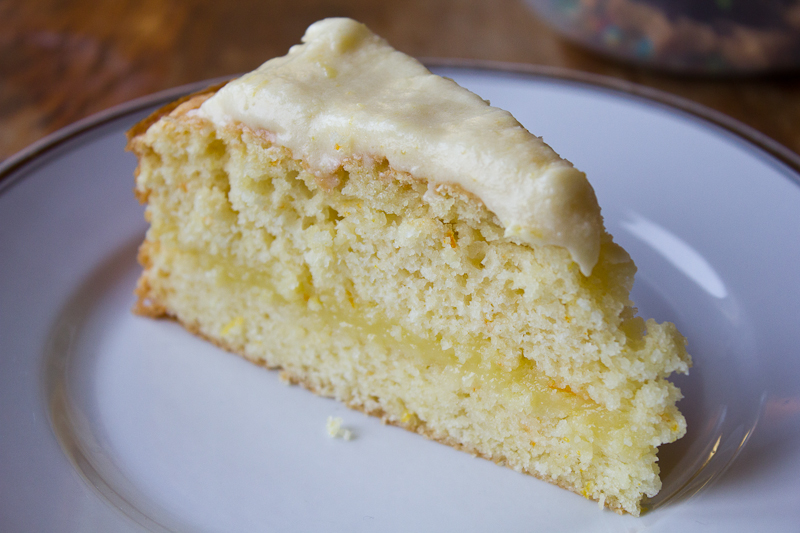 yummy lemon cake. Creamy, fluffy, sweet and tart.