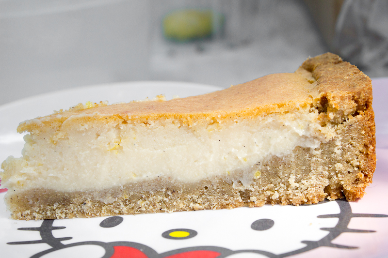 vegan and glutenfree Lemon Cheesecake