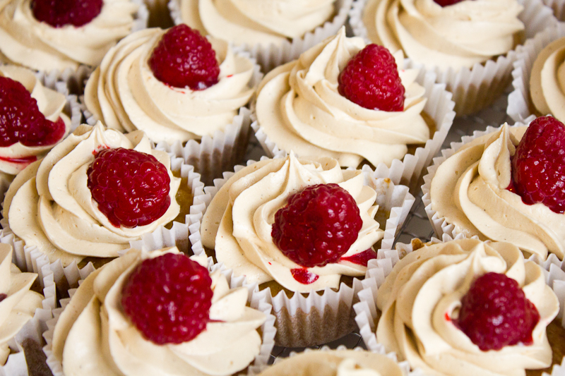 PBJ Raspberry Cupcakes