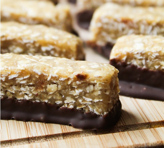 Erdnuss-Hafer-Riegel | Peanutbutter oatmeal bars