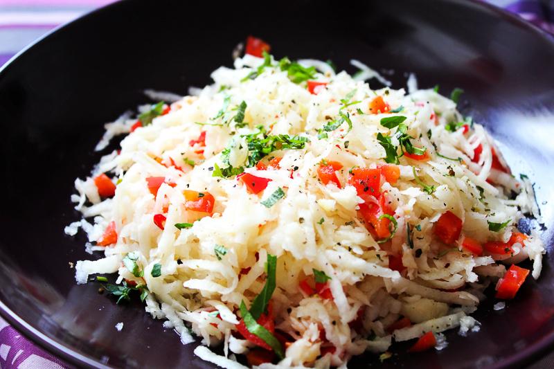 Vegan MOFO Day 4 - Savoury sugarbeet salad | Herzhafter Zuckerrübensalat