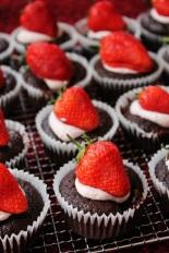 Chocolate Nougat Cupcakes   Schoko-Nougat-Cupcakes