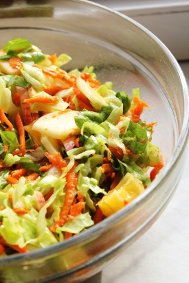 sugarloaf salad & Lemon dressing | Zuckerhut-Obstsalat mit Zitronendressing