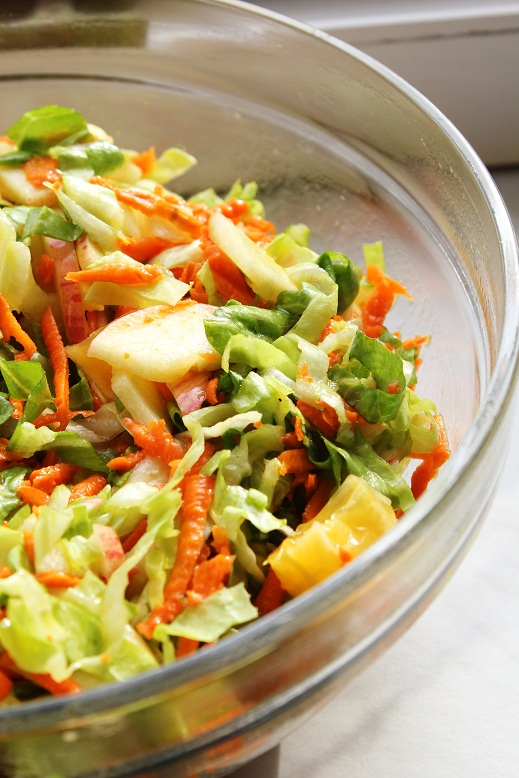 sugarloaf salad & Lemon dressing   Zuckerhut-Obstsalat mit Zitronendressing