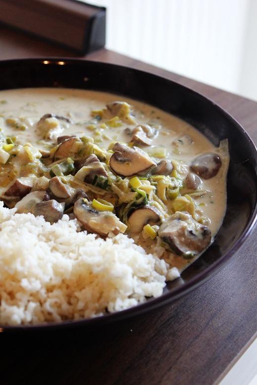 Leek & Mushroom Rice | Lauch-Pilz-Reis