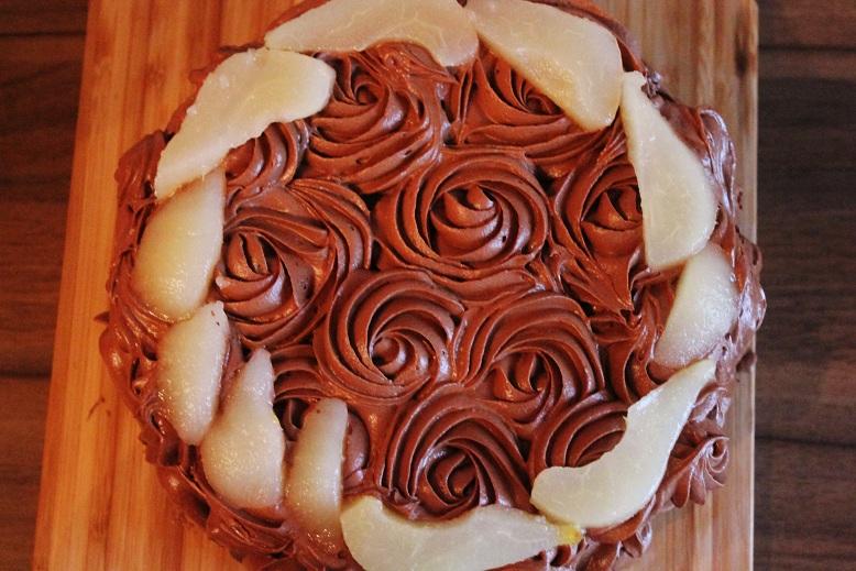 Chocolate Coconut Pear Cake | Schoko Kokos Birnen Torte